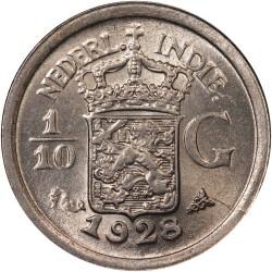 Moneta > 1/10guldena, 1910-1930 - Holenderskie Indie Wschodnie  - obverse