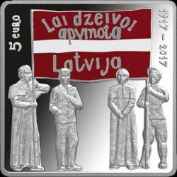 Moneta > 5euro, 2017 - Lettonia  (Latgalsky Congress) - obverse