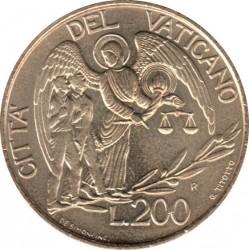 Minca > 200lire, 1997 - Vatikán  - reverse