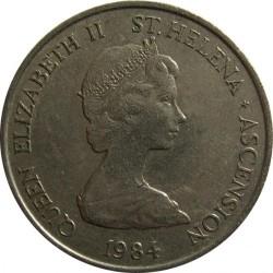 Монета > 10пенсов, 1984 - Острова Святой Елены и Вознесения  - obverse