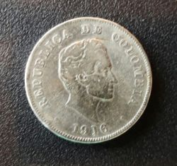 Coin > 50 centavos, 1912-1933 - Colombia  - obverse