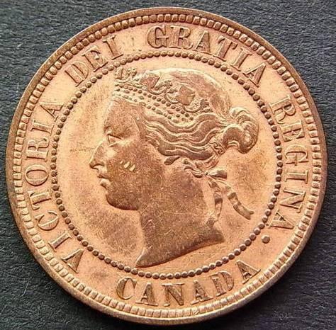 1 Cent 1876 1901 Kanada Münzen Wert Ucoinnet