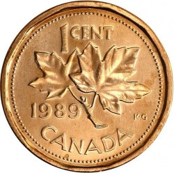Coin > 1cent, 1989 - Canada  - reverse