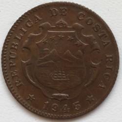 Монета > 25сентимів, 1944-1946 - Коста-Ріка  - obverse