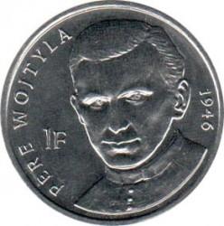 Մետաղադրամ > 1ֆրանկ, 2004 -  Կոնգոյի Դեմոկրատական Հանրապետություն  (25th Anniversary - Reign of John Paul II /Prist Wojtyła, 1946/) - obverse