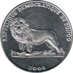 Մետաղադրամ > 1ֆրանկ, 2004 -  Կոնգոյի Դեմոկրատական Հանրապետություն  (25th Anniversary - Reign of John Paul II /Prist Wojtyła, 1946/) - reverse