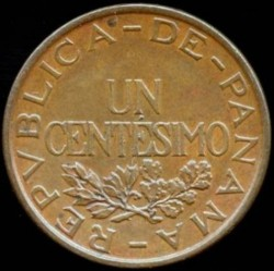 Mynt > 1centésimo, 1935-1937 - Panama  - reverse