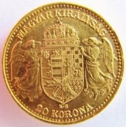 Moneta > 20corone, 1892-1915 - Ungheria  - reverse