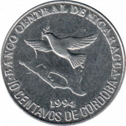 錢幣 > 10分, 1994 - 尼加拉瓜  - reverse