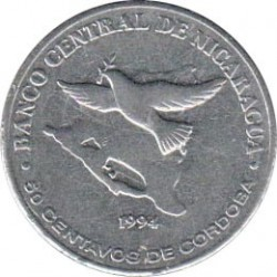 Münze > 50Centavos, 1994 - Nicaragua   - obverse