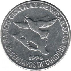 Münze > 25Centavos, 1994 - Nicaragua   - reverse
