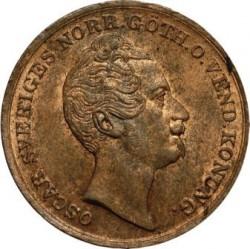 Mynt > 1skillingbanco, 1847-1855 - Sverige  - obverse