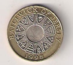 Moeda > 2libras, 1998-2006 - Jersey  - reverse