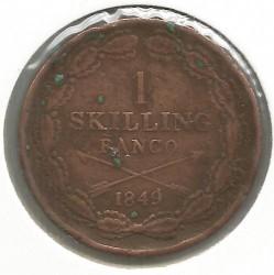 Mynt > 1skillingbanco, 1847-1855 - Sverige  - reverse