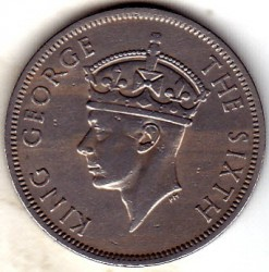 Coin > 2 shillings, 1948-1952 - Southern Rhodesia  - obverse