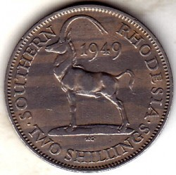 Coin > 2 shillings, 1948-1952 - Southern Rhodesia  - reverse