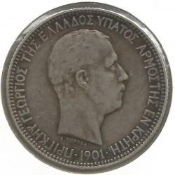 Монета > 5драхм, 1901 - Крит  - obverse