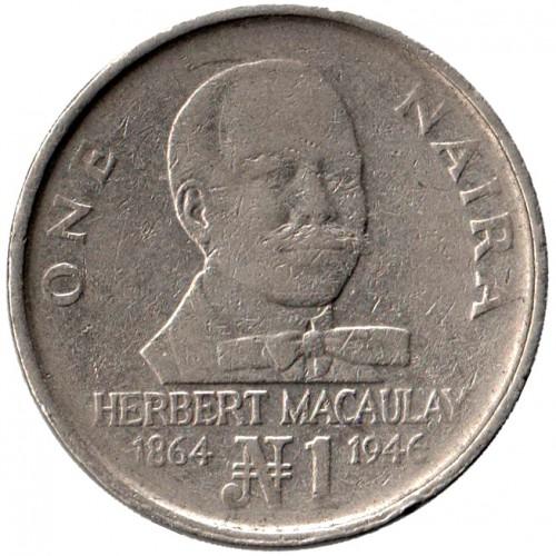 1 naira 1991-1993, Nigeria - Coin value - uCoin net