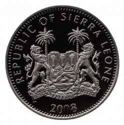 Moneta > 10dollari, 2008 - Sierra Leone  (Animali notturni - Tasso del miele) - reverse