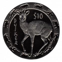 Coin > 10dollars, 2008 - Sierra Leone  (Night Animals - Duiker) - obverse
