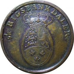 Moneta > 1rigsbankskilingas, 1818 - Danija  - obverse
