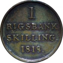 Moneta > 1rigsbankskilingas, 1818 - Danija  - reverse