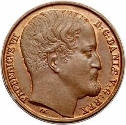 Moneta > 1rigsbankskilingas, 1852 - Danija  - obverse