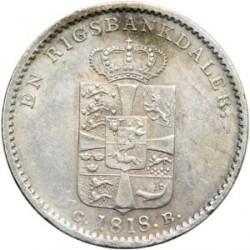 Moneta > 1rigsbankdaleris, 1813-1819 - Danija  - reverse