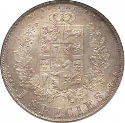 Moneta > 1speciedaleris, 1849-1854 - Danija  - reverse