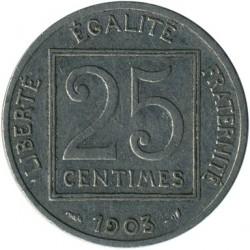 Moneta > 25centymów, 1903 - Francja  - obverse