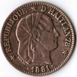 Монета > 1сантим, 1881 - Гаити  - obverse