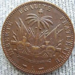 Moneda > 1centime, 1886-1895 - Haití  - reverse