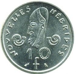 Coin > 10francs, 1973-1982 - New Hebrides  - reverse