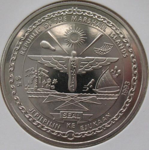 5 Dollar 1993 Elvis Presley Marshall Inseln Münzen Wert Ucoinnet