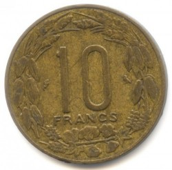 Coin > 10 francs, 1961-1962 - Equatorial African States  - obverse