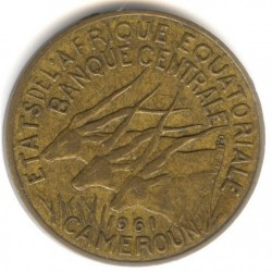 Coin > 10 francs, 1961-1962 - Equatorial African States  - reverse