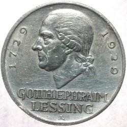 Moneda > 3reichsmark, 1929 - Alemania  (200 aniversario del nacimiento de Gotthold Lessing) - reverse