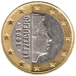 Монета > 1евро, 2002-2006 - Люксембург  - reverse
