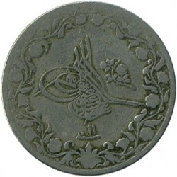 Moneta > 5/10 qirsh, 1876 - Egipt  - reverse