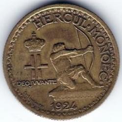 Monedă > 50centime, 1924 - Monaco  - obverse
