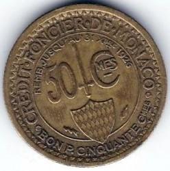Monedă > 50centime, 1924 - Monaco  - reverse