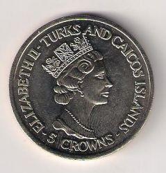 Moneta > 5kronos, 1992 - Terkso ir Kaikoso Salos  (40th Anniversary - Accession of Queen Elizabeth II. Windsor Castle) - obverse