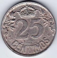 Moeda > 25cêntimos, 1925 - Espanha  - reverse
