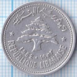 Moneta > 10piastrų, 1952 - Libanas  - obverse