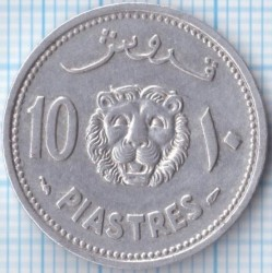 Moneta > 10piastrų, 1952 - Libanas  - reverse