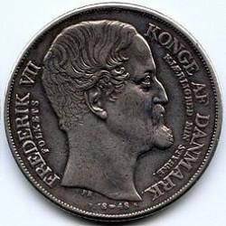 Moneta > 1speciedaler, 1848 - Dania  (Śmierć Chrystiana VIII i wstąpienie na tron Fryderyka VII) - obverse