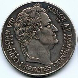 Moneta > 1speciedaler, 1848 - Dania  (Śmierć Chrystiana VIII i wstąpienie na tron Fryderyka VII) - reverse