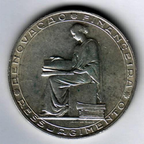 PORTUGAL 20 ESCUDOS 1953 SILVER