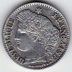Moneta > 20centesimi, 1849-1851 - Francia  - obverse