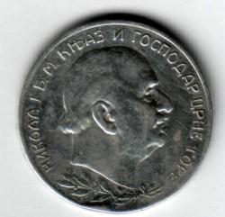 Moneda > 2perpera, 1910 - Montenegro  - obverse